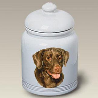 Chocolate Lab Dog Treat Cookie Jar