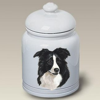 Border Collie Dog Treat Cookie Jar