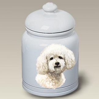 Bichon Frise Dog Treat Cookie Jar