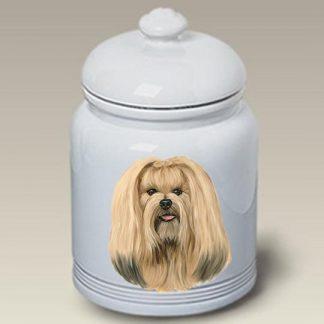Lhasa Apso Dog Treat Cookie Jar