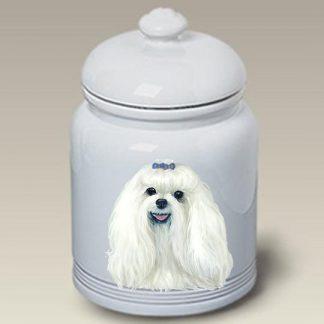 Maltese Dog Treat Cookie Jar