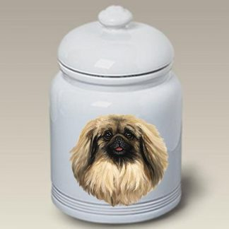 Pekingese Dog Treat Cookie Jar