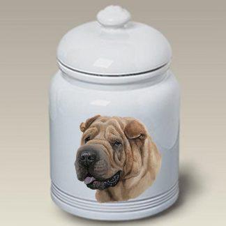Shar Pei Dog Treat Cookie Jar