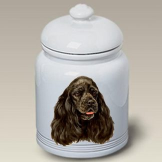 Black Cocker Spaniel Dog Treat Cookie Jar