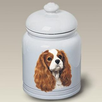 Cavalier Spaniel Dog Treat Cookie Jar