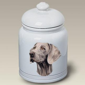 Weimaraner Dog Treat Cookie Jar