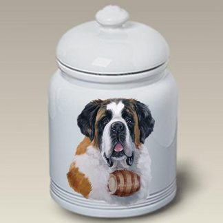 Saint Bernard Dog Treat Cookie Jar