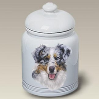 Australian Shepherd Dog Treat Cookie Jar