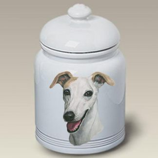 Whippet Dog Treat Cookie Jar