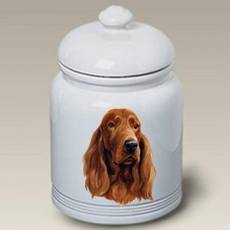 Irish Setter Dog Treat Cookie Jar