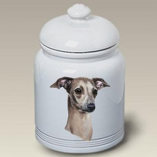 Italian Greyhound Dog Treat Cookie Jar