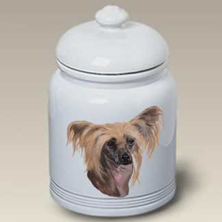 Chinese Crested Dog Treat Cookie Jar
