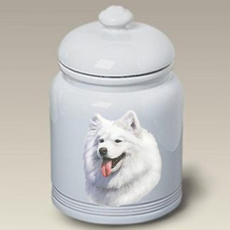 Samoyed Dog Treat Cookie Jar