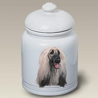 Afghan Hound Dog Treat Cookie Jar