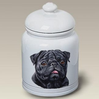 Pug Dog Treat Cookie Jar (Black)