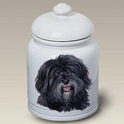 Havanese Dog Treat Cookie Jar
