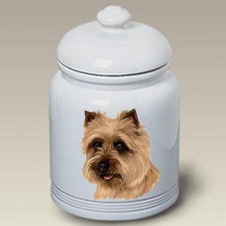 Cairn Terrier Dog Treat Cookie Jar