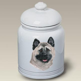 Akita Dog Treat Cookie Jar