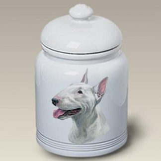 Bull Terrier Dog Treat Cookie Jar