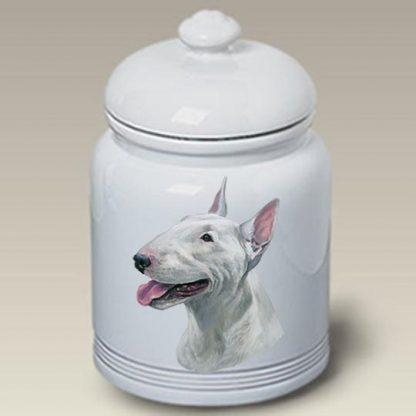 Bull Terrier Dog Treat Cookie Jar