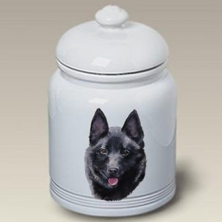 Schipperke Dog Treat Cookie Jar