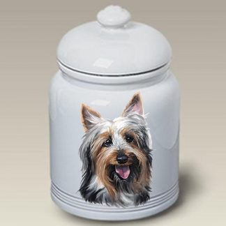 Silky Terrier Dog Treat Cookie Jar