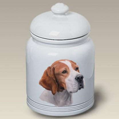 Pointer Dog Treat Cookie Jar