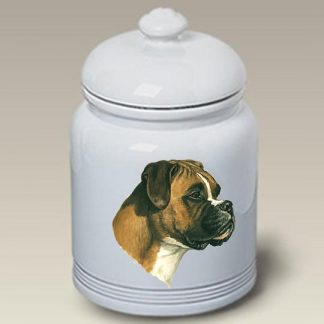 Boxer Dog Treat Cookie Jar (Uncropped)