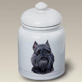 Brussels Griffon Dog Treat Cookie Jar