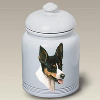 Rat Terrier Dog Treat Cookie Jar