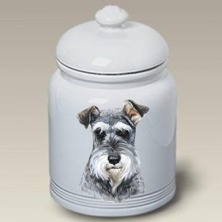 Schnauzer Dog Treat Cookie Jar (Uncropped)