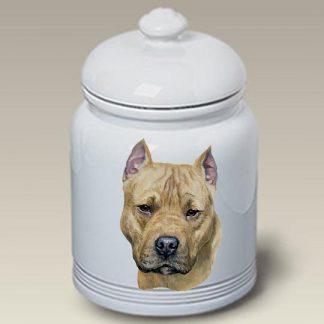 Staffordshire Terrier Dog Treat Cookie Jar