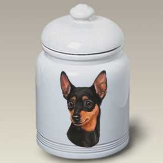 Miniature Pinscher Dog Treat Cookie Jar