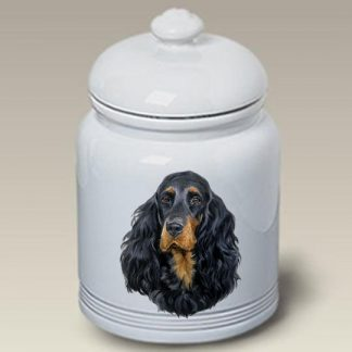 Gordon Setter Dog Treat Cookie Jar