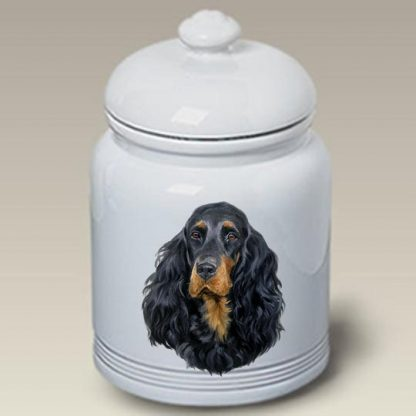 Gordon Setter Dog Treat Cookie Jar