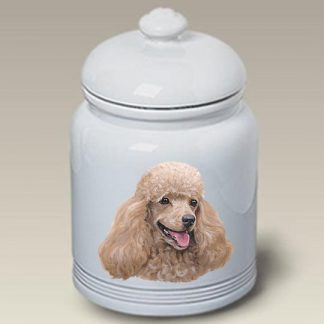 Cream Poodle Dog Treat Cookie Jar