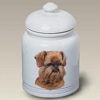 Brussels Griffon Dog Treat Cookie Jar (Uncropped)
