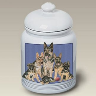 German Shepherd Dog Treat Cookie Jar II