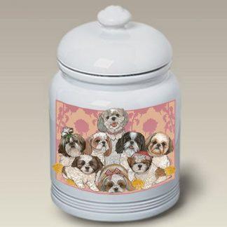 Shih Tzu Dog Treat Cookie Jar III