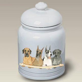 Great Dane Dog Treat Cookie Jar II