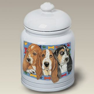 Basset Hound Dog Treat Cookie Jar III