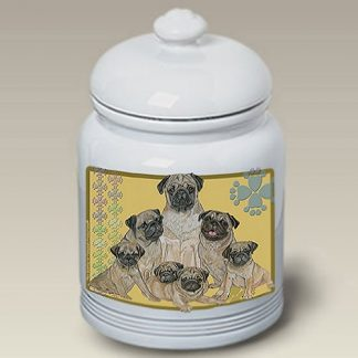 Pug Dog Treat Cookie Jar