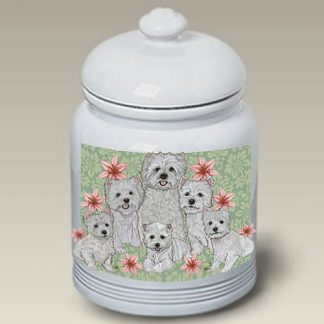 West Highland Terrier Dog Treat Cookie Jar III