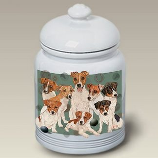 Jack Russell Terrier Dog Treat Cookie Jar III