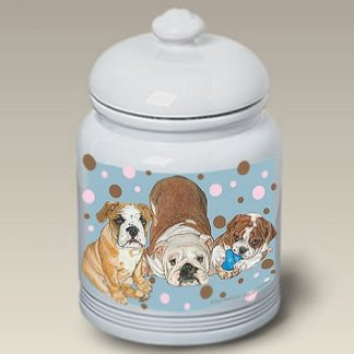 Bulldog Dog Treat Cookie Jar III