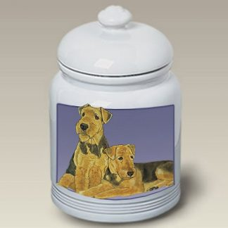 Airedale Terrier Dog Treat Cookie Jar II