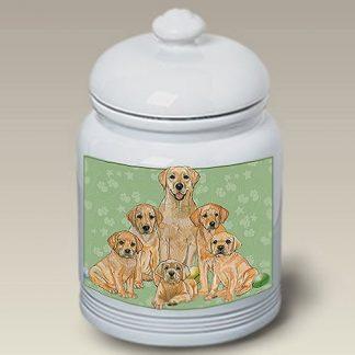 Yellow Lab Dog Treat Cookie Jar III