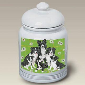 Border Collie Dog Treat Cookie Jar II