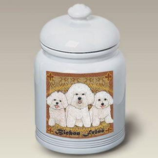 Bichon Frise Dog Treat Cookie Jar III