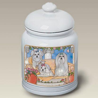 Maltese Dog Treat Cookie Jar III